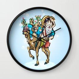 A One Piece Tony Tony Chopper Christmas Wall Clock