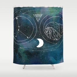 Cancer Season Shower Curtain