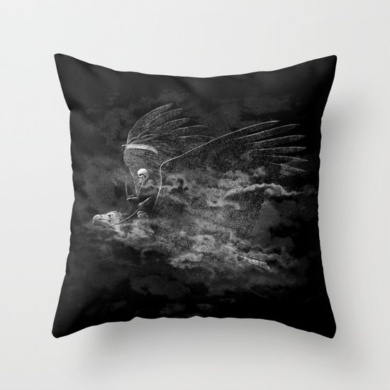 Reaper's Ride Throw Pillow