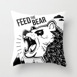 Bears and Mountains Throw Pillow