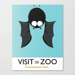 visit the zoo bats Canvas Print