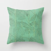 palms Throw Pillows featuring Palms by Robert Høyem