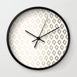 Gold Diamond Design II Wall Clock