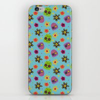 sugar skulls iPhone & iPod Skins featuring Sugar Skulls by grrrenadine