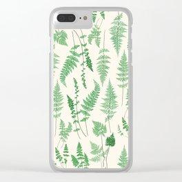 Ferns on Cream I - Botanical Print Clear iPhone Case