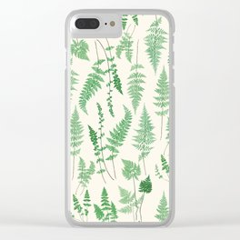 Ferns on Cream I - Botanical Print Clear iPhone Case