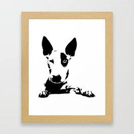BULL TERRIER GIFTS Framed Art Print