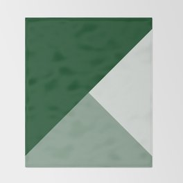 Trinity Color Block Forest Green 08441C Throw Blanket