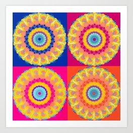 Four Squared medallions Art Print
