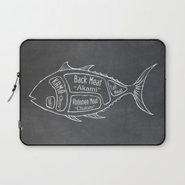 Tuna Butcher Diagram (Seafood Meat Chart) Laptop Sleeve