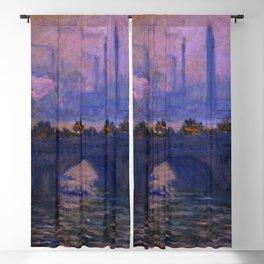 "Claude Monet ""Waterloo Bridge"" (1903) Blackout Curtain"