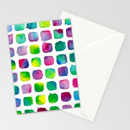 Watercolor Squares Stationery Cards