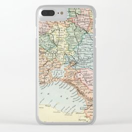 Vintage Map of Russia Clear iPhone Case
