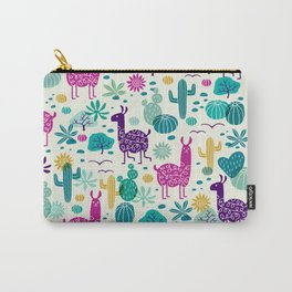Llama desert turquoise/purple Carry-All Pouch
