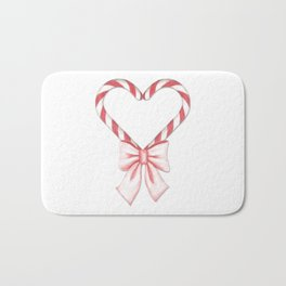Candycane love Bath Mat