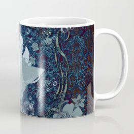 Surfing, surfboard with flowers Coffee Mug