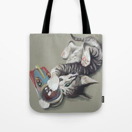 Spaceship kitten Tote Bag