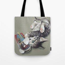 Spaceship kitten Tote Bag