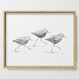 """ Shorebirds "" Serving Tray"