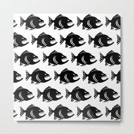 piranna pattern Metal Print