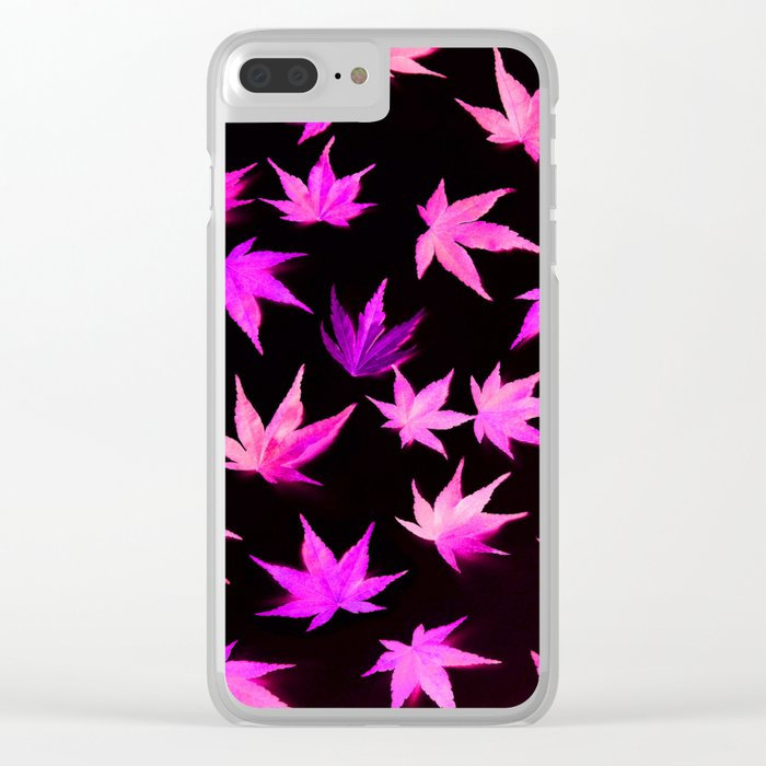 AUTUMN ROMANCE - LEAVES PATTERN #2 #decor #art #society6 Clear iPhone Case