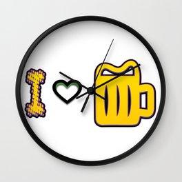 love - I love beer Wall Clock