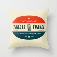 Tardis Travel - Fantasy Travel Logo Throw Pillow