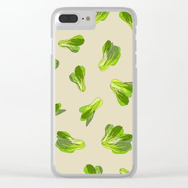 Lettuce Bok Choy Vegetable Clear iPhone Case
