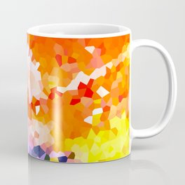 Colorful Rainbow with Pink Abstract Modern Stained Glass Coffee Mug