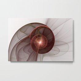 Abstract Digital Art, Fantasy Figure Metal Print