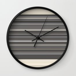 Decorative Modern GreyTaupe Clean Lines Wall Clock