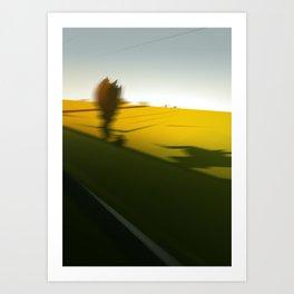 Trainblur Art Print