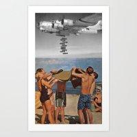 bombs away Art Prints featuring Bombs away by Adrian Jugaru