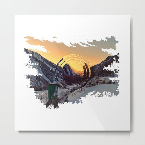 Mountains sunset Metal Print