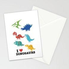 I love dinosaurs Stationery Cards