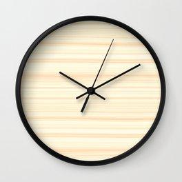 Basswood Texture Wall Clock