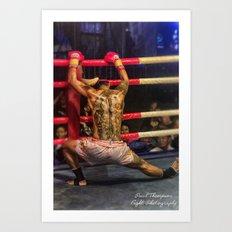 Boxer color Art Print