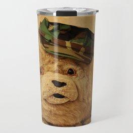 Teddy Bear In Uniform Travel Mug