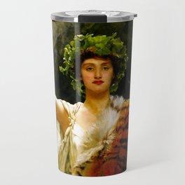 "John Collier ""The Priestess of Bacchus"" Travel Mug"