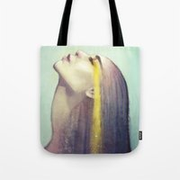 constellation Tote Bags featuring Constellation by Anna Dittmann
