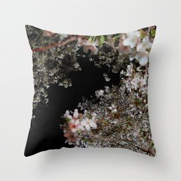 blossom by night Throw Pillow