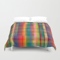 cracked Duvet Covers featuring Cracked by datavis/pwowk