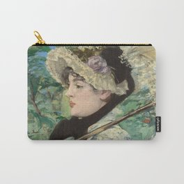Jeanne (Spring) - Edouard Manet Carry-All Pouch