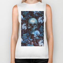 Skull and Flowers Biker Tank