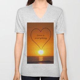 Love is everything Unisex V-Neck