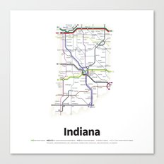 Highways of the USA – Indiana Canvas Print