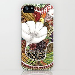 Abstract Flower in the garden iPhone Case