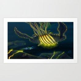 Deep Sea Encounter Art Print