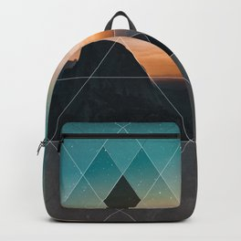 Mountain Landscape Geometric Backpack