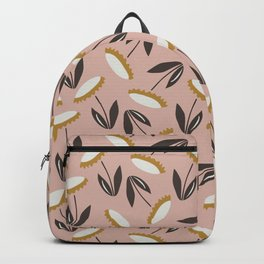 Echinacea pattern - dusty rose and white palette  Backpack